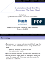 Market Impact With Autocorrelated Order Flow Under Perfect Competition 42_ParisMicrostructure2012