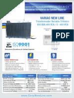 Transformador Variable Variac New Line Ficha Técnica