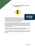 Modelo de Indicadores Para La Implementación Del BSC en La Función de Auditoría Interna