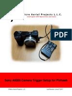 Sonya 6000 Camera Trigger Setup