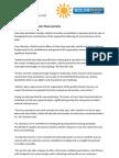 Press Release - Solar Shop Change in Management