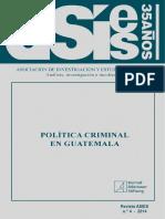 Revista 4 Pol Tica Criminal en Guatemala