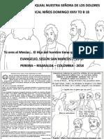 HOJITA EVANGELIO NIÑOS DOMINGO XXIV TO B 18 BN