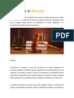 Definicion de Derecho