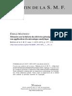 Boletin matematicos de Francia
