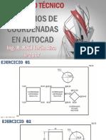 Practica 001 - Ejercicios Coordenada s Autocad