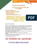 Anhanguera Gestão Financeira Empresa Tudo Limpo