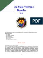 Vet State Benefits - AZ 2018