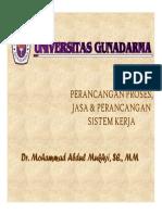 Perancangan Proses, Jasa & Perancangan Sistem Kerja (1)