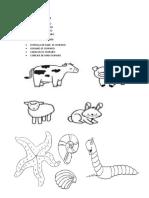 ANIMALES VERTEBRADOS Y INVERTEBRADOS PARA COLOREAR + OVIPAROS Y VIVIPAROS