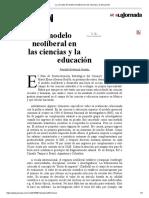 La Jornada_ El Modelo Neoliberal en Las Ciencias y La Educación