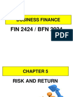 FIN2424_BFN2034 Chapter 5 Risk and Returns