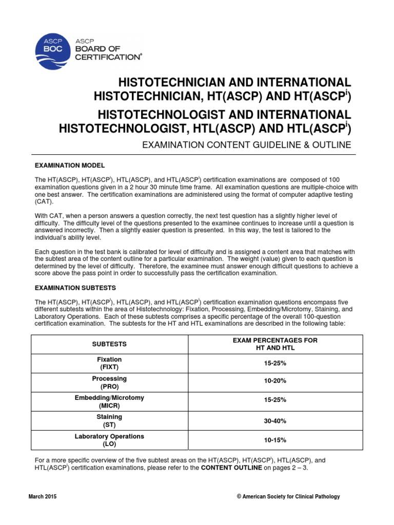 Ascp Internationalpdf Fixation Histology Test Assessment