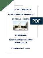 Plan de Gobierno de Victor Castro Quintanilla