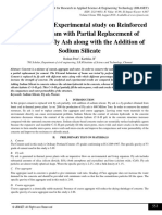 Analytical and Experimental study on Reinforced Concrete Beam with Partial Replacement of Cement with Fly Ash along with the Addition of Sodium Silicate