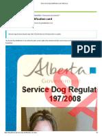 Get a Service Dog Identification Card _ Alberta