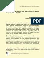 CADERNO DE TRADUÇÕES - RESENHA - SOBRE A REDOMA DE VIDRO