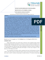 THE APPLICATION OF NANOTECHNOLOGY IN DEVELOPING  TALAROMYCES FLAVUS FORMULATIONS