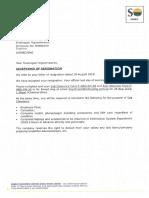 SM000104 - Resignation Acceptance Letter