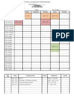 Engineering Sked for 2nd Sem