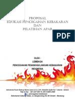 Proposal Edukasi Pencegahan Kebakaran & Pelatihan Apar