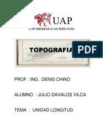 TOPOGRAFIA - Unidad de Medidas Longitud