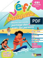 Défi Vacances CE1 Vers CE2