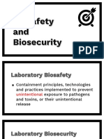Biosafety and Biosecurity