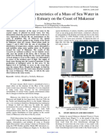 Study of the Characteristics of a Mass of Sea Water in the Zone of the Estuary on the Coast of Makassar