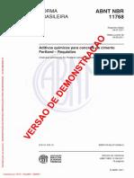 Aditivos Químicos Para Concreto de Cimento Portland – Requisitos
