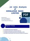 Financial Ratio Analysis of HBL