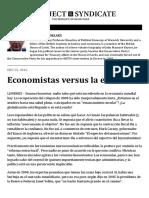 Economistas Versus La Economía by Robert Skidelsky - Project Syndicate