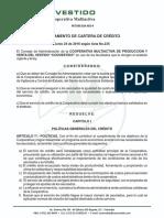 Coovestido-Ultimo Reglamento de Crédito 2018