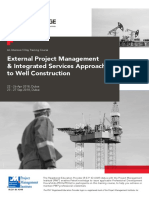 External Project Management Integrated Services Approach to Well Construction