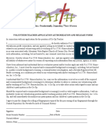 teacher verifiacation authorization release form webpage