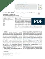 Sensitivity of the PESERA Soil Erosion Model to Terrain and Soil Inputs