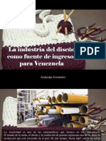 Atahualpa Fernández - La Industria Del Diseño Como Fuente de Ingresos Para Venezuela
