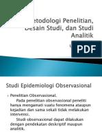 Metodologi Penelitian, Desain Studi, Dan Studi