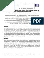 Reaproveitamento da concha de marisco como agregado graúdo na produção de concreto não estrutural