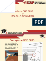 3.0 Diseño de Ore Pass y Bolsillo de Mineral