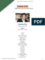 Poemas de Octavio Paz – Ciudad Seva - Luis López Nieves