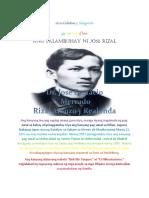 Buhay Ni Jose Rizal