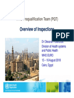 WHO-PQT Inspections Cairo Aug2018