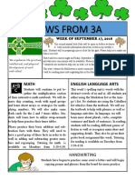 3a newsletter week of september 17 2018