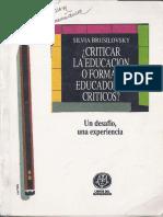 Brusilovsky-Criticar La Educacion