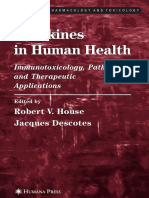 Cytokines in Human Health