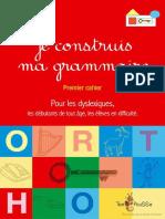 Je Construis Ma Grammaire Premier Cahier