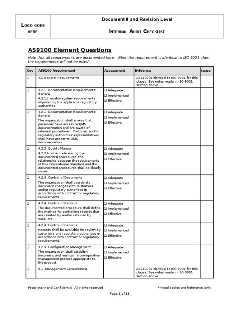 iso 9001 2015 internal audit checklist for maintenance department