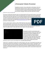 Kegunaan Memakai Powerpoint Tatkala Presentasi