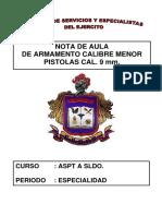 89. NOTA DE AULA PISTOLA PIETRO BERETTA CAL. 9 mm.pdf